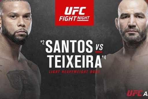 Speltips Thiago Santos vs Glover Teixeira