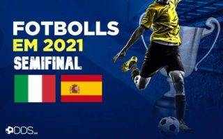 Fotbolls-EM-2021 Semifinal Italien Spanien